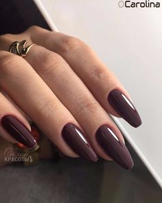 Red Acrylic Nails, Matte Nails, Red Nails, Elegant Nail Designs, Elegant Nails, Brown Nails, Dark Nails, Wine Nails, Nagel Gel