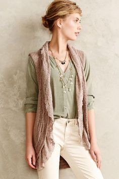 Lacy Sweater Vest - anthropologie.com