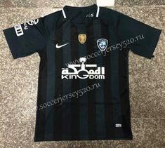 uusoccer provides cheap and quality Al Hilal FC Away Black Thailand Soccer Jersey AAA with the information of price, image, size, style and others, easy for you to buy! Football Jackets, Football Fans, Football Shirts, Team Uniforms, Thailand, Soccer, Mens Tops, Black, Club