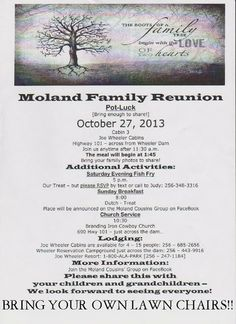 Family Reunion Agenda Template - Invitation Templates DesignSearch ...