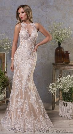 Wedding Dresses Simple, Attractive Tulle Jewel Neckline Natural Waistline Mermaid Wedding Dress With Lace Appliques, Shop discount wedding dresses and sales. Don't miss out, shop clearance wedding dresses before they're gone! Western Wedding Dresses, Sexy Wedding Dresses, Perfect Wedding Dress, Wedding Gowns, Wedding Dress Styles, Wedding Dress 2018, Champagne Colored Wedding Dresses, Ivory Wedding, Bride Dresses