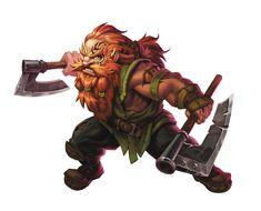 m Dwarf Barbarian 2 axes ArtStation - Krutzbeck, Enrique Rivera