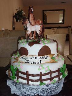 Trinity's next birthday cake Birthday Cake Girls, Horse Birthday, Cowboy Birthday, 8th Birthday, Birthday Cakes, Birthday Ideas, Cupcakes, Cupcake Cakes, Farm Cake
