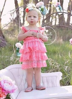 #marilijean  #dreammarilibedroom  Pink Lace Ruffle Dress - girl dress - easter toddler dress - birthday dress - spring dress