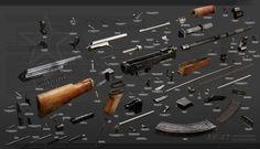 Ak-47 explosion diagram by ABiator