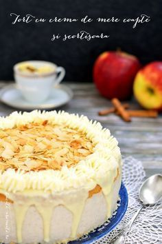 tort cu crema de mere coapte si scortisoara