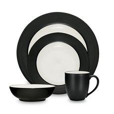 Noritake® Colorwave Graphite Rim Dinnerware - Bed Bath & Beyond