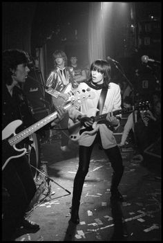 Chrissie Hynde on stage with The Pretenders in London England... March 9 1979. Photo by David Corio