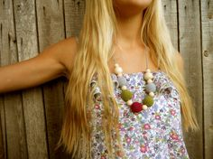 Crochet Nursing Necklace with wood beads by bboutiquebeauties, $20.00