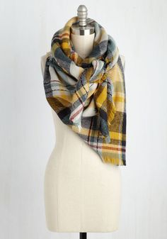 An Oregon adventure calls for this plaid scarf to complete your getaway get-up! Taking cues from the warm colors of the landscape, this toasty, fringed accessory is striped with stone, crimson, teal, navy, and saffron yellow hues, offering both function and form you'll always adore.By the way, this lovely item will be available for purchase in August!