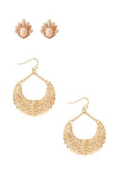 Deco Glam Earring Set   FOREVER 21 - 1000104950