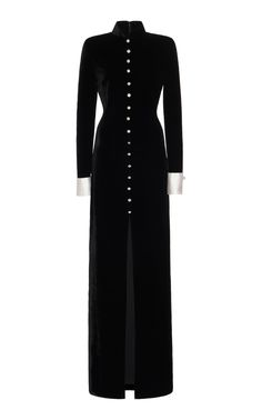 This **Monse** High Slit Long Sleeve Dress features an asymmetrical draped neckline, a sequin embellished right sleeve, and an asymmetrical bottom hem. Kpop Fashion Outfits, Fashion Dresses, Column Dress, Elegant Outfit, Couture Fashion, Dress Outfits, Dresses With Sleeves, Gowns, Model