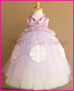 Sofia the First Inspired Tutu Dress. Dress your guest of honor in her very own Sofia The First Party dress!