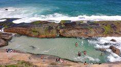 Praia do Secreto - entre as praias da Macumba e a Prainha, no Recreio - Rio de Janeiro