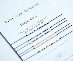 Nouveauté !   Un Bracelet à message codé !   Le morse fut inventé en 1832 par Samuel Morse et son assistant.  Principalement utilisé par les militaires, je le détourne a - 20409372