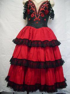 Don quixote ballet costume red pinterest balletto danza e costumi - Costume da bagno in spagnolo ...