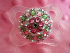 Flower Power Bling Pacifier $22