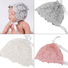 Cute Girls Kids Lace Floral Bandanas For Photo Prop Bonnet Hat, Photo Props, Cute Girls, Floral, Newborn Girls, Baby Girls, Girl Outfits, Crochet Hats, Beanie