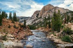 Tuolumne River at Glen Aulin in Yosemite National Park Royalty Free Stock Images