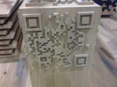 QR code sur bois