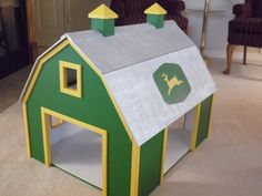 Wooden Toy Barn by RandGWoodworks on Etsy Crafts For Boys, Projects For Kids, Diy For Kids, Wood Projects, Woodworking Projects, Woodworking Plans, Wooden Toy Barn, Barn Wood, Wooden Diy