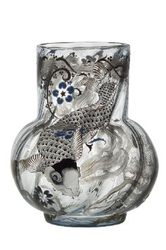 ❤ - Émile Gallé | La Carpe Vase - 1878.