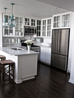5 Wonderful Tricks: Kitchen Remodel On A Budget Design white kitchen remodel barn Kitchen Remodel Interior Design apartment kitchen remodel house.Kitchen Remodel On A Budget Design. New Kitchen, Kitchen Dining, Kitchen Small, Kitchen White, Small Kitchens, Ranch Kitchen, Narrow Kitchen, Floors Kitchen, Compact Kitchen