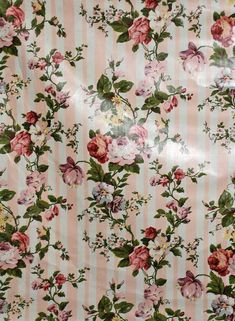 Vintage Mario Buatta Chintz Fabric Sally's Stripe 5 by PruAtelier