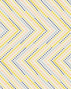 leah duncan via print & pattern Graphic Design Pattern, Graphic Patterns, Pattern Art, Yellow Pattern, Motifs Textiles, Textile Patterns, Pretty Patterns, Color Patterns, Dot Patterns