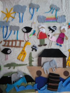 I have been thinking about making a felt board using the story of Noah and the flood for quite some time. My family was not very religious growing up but I had a cardboard boat and plastic animals that I remember being really in love with. We have