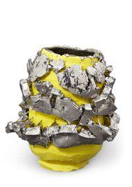 Yellow-slipped Platinum Kairagi Shino bowl