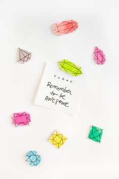 #DIY watercolor gem #magnets