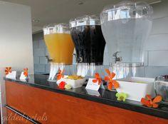 orange orchid beverage bar detail