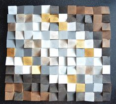 Geometric wood art Wood Art 3D Wall Art Abstract painting