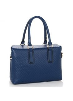 Vogue Solid Navy Checkered Pattern Pu Satchel Bags For Lady With Whole Price At