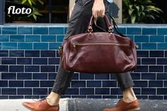 Floto Collection Leather Travel Bag