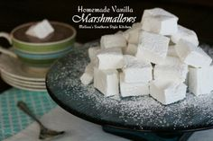 Melissa's Southern Style Kitchen: The perfect topping for a cup of hot cocoa or dipped in chocolate for a handheld treat!  Homemade Vanilla Marshmallows