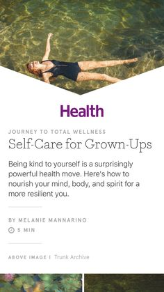 """""""Self-Care for Grown-Ups"""" from Health, May 2017. Read it on the Texture app-unlimited access to 200+ top magazines."""