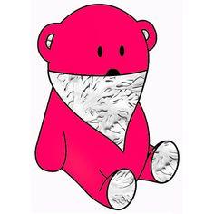pinky bear & silver bandana
