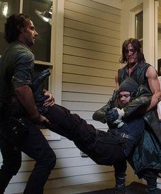 bethkinneysings: Daryl, Rick et Jésus dans la saison Walking Dead 6 Episode 10 |  L'autre monde