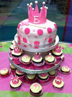 Princess Themed Cake/Cupcake Tower!!! by maryfa, via Flickr