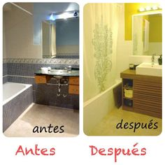 1000 images about antes despues on pinterest pintura - Pintura baldosas bano ...