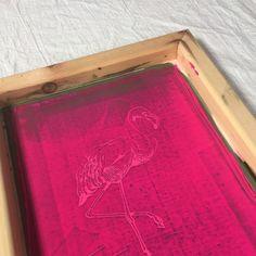 Printing up flamingos for spring!