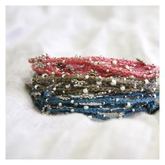 "String Wrap Bracelet ""Life is What You Make of It"" by Wakami (3 color choices)  $17  [long enough to be a necklace, too!]"