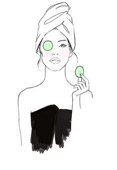 skin care illustration ile ilgili görsel sonucu