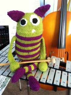 Mischievous, fun and oh so lovable with super big hearts, monsters give strength, hope, love and that all important hug. They are also a great way to use up scraps and small skeins in your stash. Monsters can be made with any yarn weight & needle combination.
