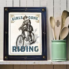 Bicycle Art Print for Woman by DexMex on Etsy 40864f563