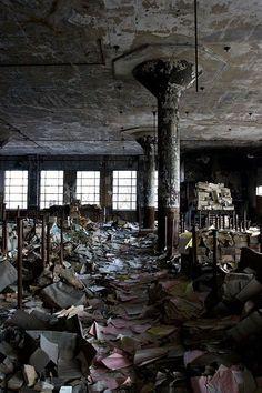 The abandoned Detroit Public Schools Book Depository, Detroit, Michigan, USA artificialowl.net