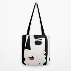 "#bag #totebag #fashion #home_decoration #art #minimalism #bahaus #design #portrait #emmanuelsignorino Our quality crafted Tote Bags are hand sewn in America using durable, yet lightweight, poly poplin fabric. All seams and stress points are double stitched for durability. Available in 13"" x 13"", 16"" x 16"" and 18"" x 18"" variations, the tote bags are washable, feature original artwork on both sides and a sturdy 1"" wide cotton webbing strap for comfortably carrying over your shoulder."