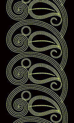 Cording Lace Embroidery Design 22157 Machine Embroidery Designs, Embroidery Patterns, Saree Painting, Art Nouveau Illustration, Boarders, Lace Embroidery, Pattern Art, Paisley, Ornament